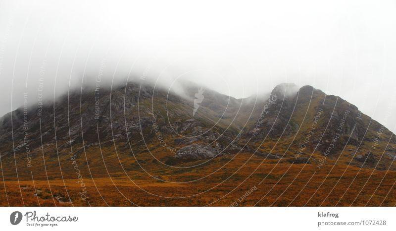 Whisky-Farben-Spiel Ferien & Urlaub & Reisen Ausflug Abenteuer Berge u. Gebirge Luft Wolken schlechtes Wetter Unwetter Sturm Nebel Regen Moos Schottland