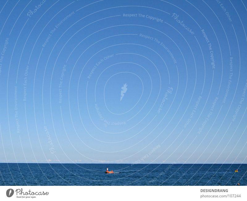 Die Ruhe vor dem Sturm Meer ruhig Ferien & Urlaub & Reisen See Wasserfahrzeug Horizont Verlauf Wellen schön Himmel himmlisch Erholung Strand Atlantik Sommer