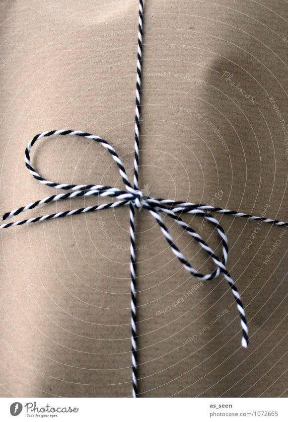 Paket Weihnachten & Advent weiß schwarz braun Geburtstag authentisch ästhetisch einfach Papier Schnur Freundlichkeit Güterverkehr & Logistik Überraschung