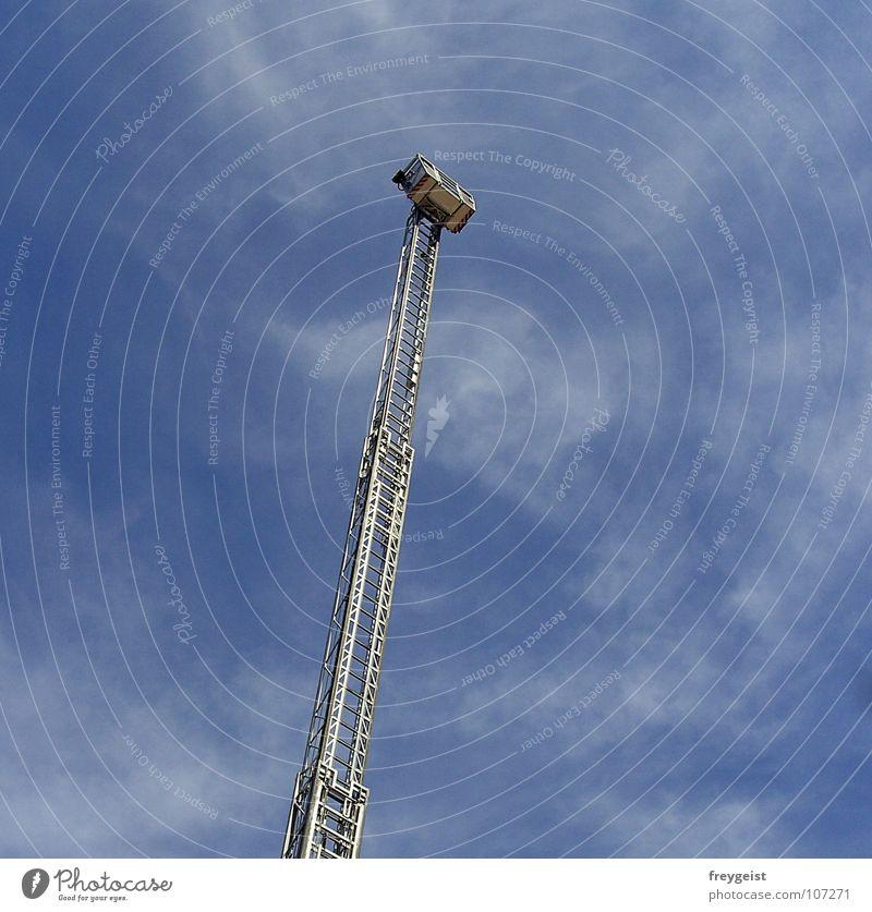Rescue? Rettung retten Hilfsbereitschaft Öffentlicher Dienst Leiter Himmel rescue Brand drehleiter Feuerwehr