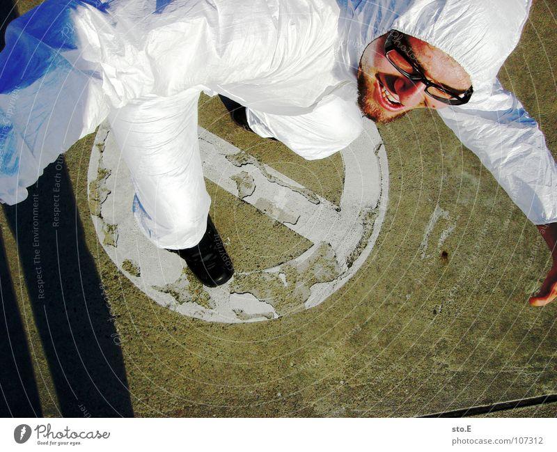 Revolutionär Kerl Aktion Anzug weiß Sicherheit Schutzanzug Arbeitsbekleidung Pentium Arbeitsschuhe Stahlkappe Maske Schutzmaske Atemschutzmaske Parkplatz