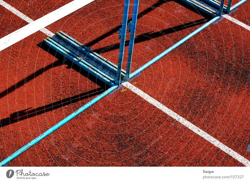 110m Hürden Sport Spielen Linie Bodenbelag Barriere Hürde