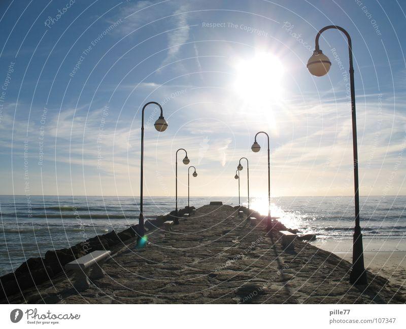 Licht und die See Meer Spanien Andalusien Lampe Ferien & Urlaub & Reisen Wolken Laterne Wasser Küste