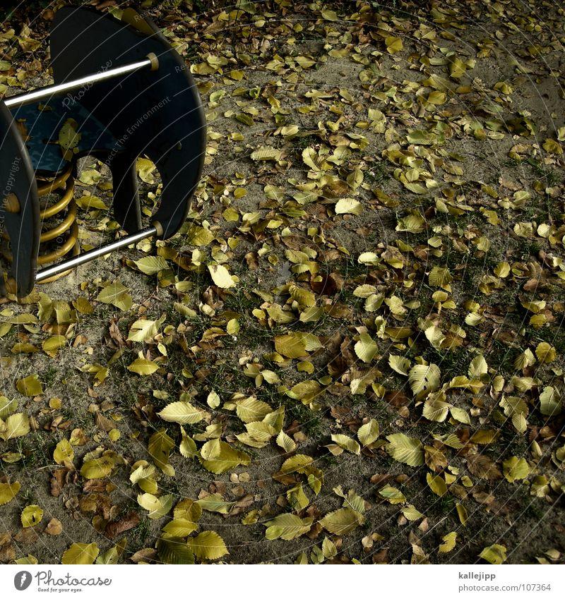 ein elefant für dich Spielplatz Spielen Elefant Wippe Hinterhof Platz gelb grün Metallfeder Kindergeburtstag Gegner Blatt Herbst Sportveranstaltung frei