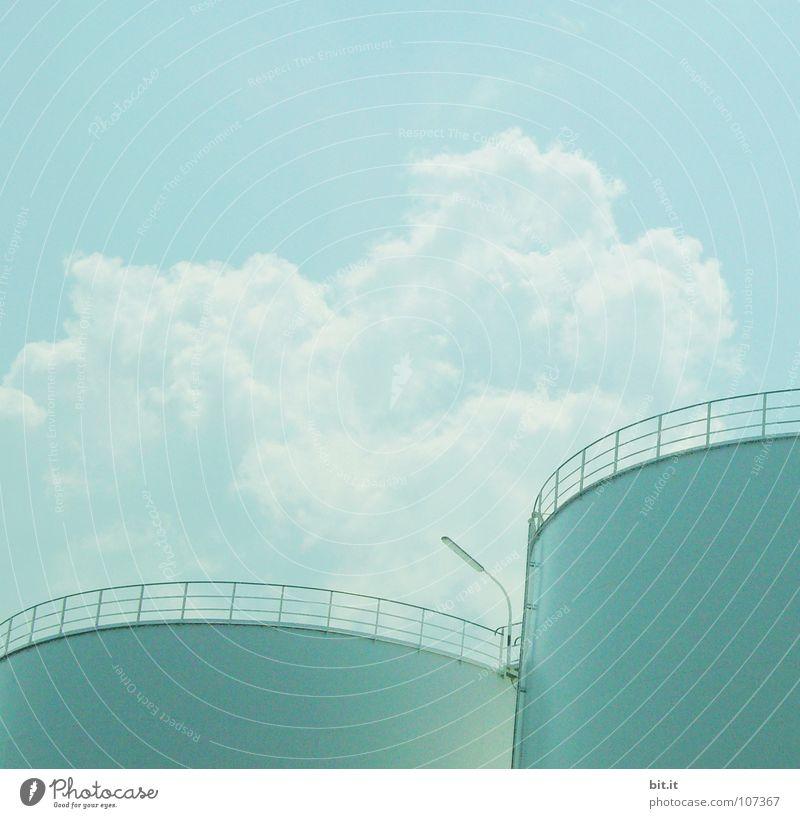 FARBTÖPFE Himmel blau weiß Ferien & Urlaub & Reisen Wolken oben grau See Lampe Linie hell Fuß Arbeit & Erwerbstätigkeit Kraft Beleuchtung hoch
