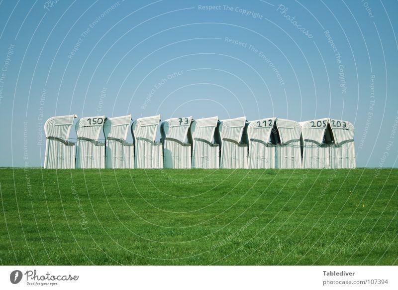 Elfriede Maltzahns Winterkollektion Strandkorb Herbst Wiese weiß grün Nordsee Himmel blau Wer wird Millionär