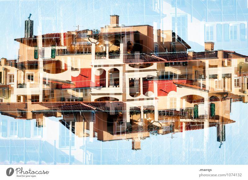 Casa Lifestyle Stil Design Häusliches Leben Wolkenloser Himmel Haus Fassade Balkon Terrasse Kamin Fenster Tür Dach außergewöhnlich exotisch trendy einzigartig