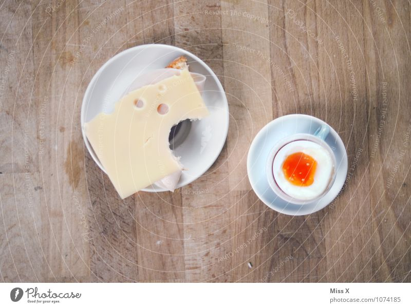 Frühstück Lebensmittel Käse Brot Ernährung Büffet Brunch Bioprodukte Geschirr Teller Gesunde Ernährung Tisch lecker Beginn Pause Käsebrot Snack Ei