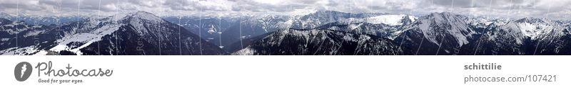 Weitblick Himmel Ferne Berge u. Gebirge Stein Horizont hoch Niveau München Panorama (Bildformat) Bayern