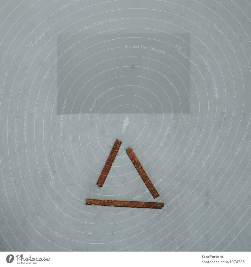 einäugig Bauwerk Gebäude Architektur Mauer Wand Fassade Metall Zeichen Schilder & Markierungen Linie Streifen grau Design Dreieck Rechteck Geometrie