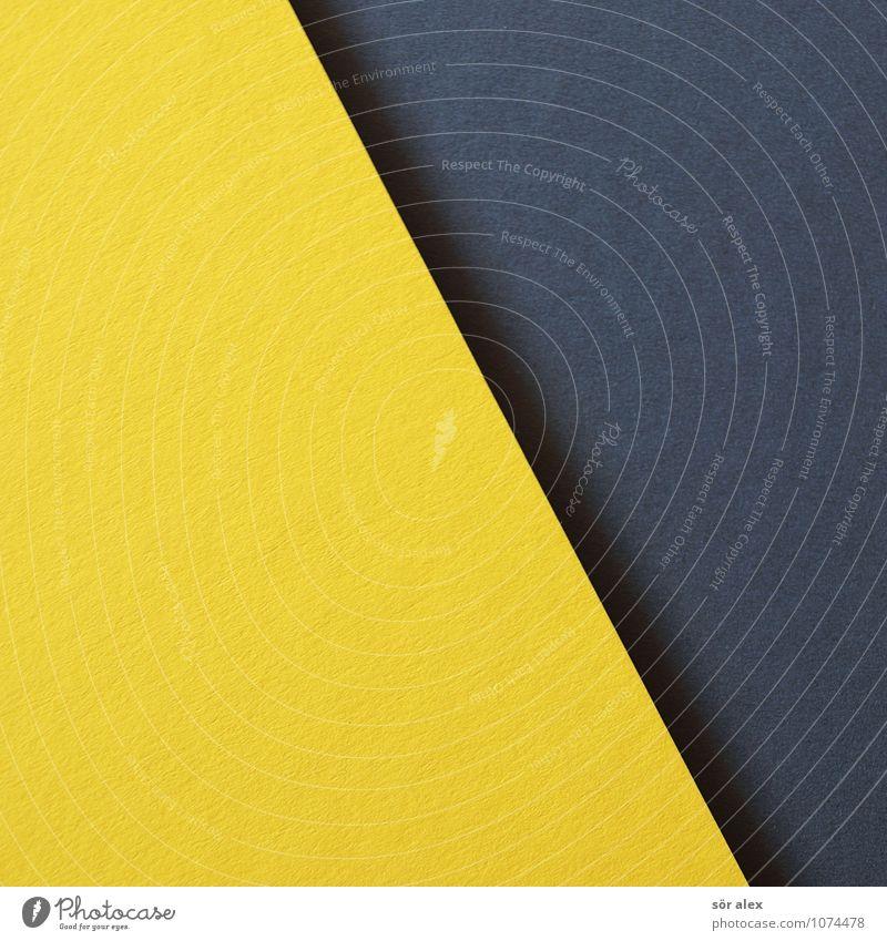 [gelb\schwarz] Karton grau Hintergrundbild Hintergrund neutral graphisch Grafische Darstellung Grafik u. Illustration Basteln Farbfoto Innenaufnahme