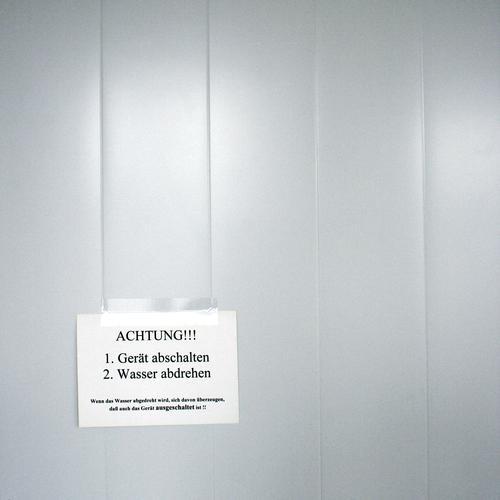 So So alt Wasser Schilder & Markierungen Hinweisschild historisch Information Gerät Warnhinweis Respekt Zettel Anordnung Warnung Anleitung Warnschild