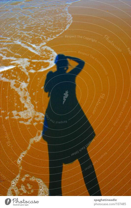 Schattenspiele/Shadowgames Strand Meer Wellen Australien Queensland schwarz dunkel Sommer Ferien & Urlaub & Reisen weich Sandburg Geschwindigkeit türkis grün