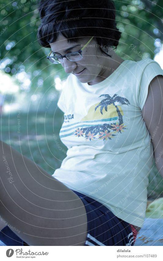 summer Natur Jugendliche schön Sommer Freude Traurigkeit See Glas Spanien