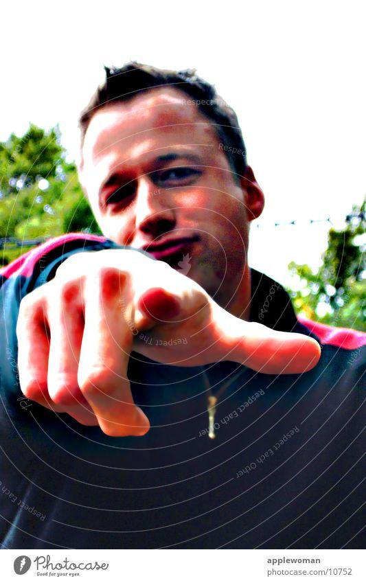 YOU Mensch Mann Hand Finger