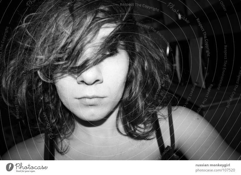 tebisches basilikum Mensch Jugendliche schön weiß schwarz Gesicht Auge Leben Gefühle klein grau Denken Haare & Frisuren Wohnung Raum groß