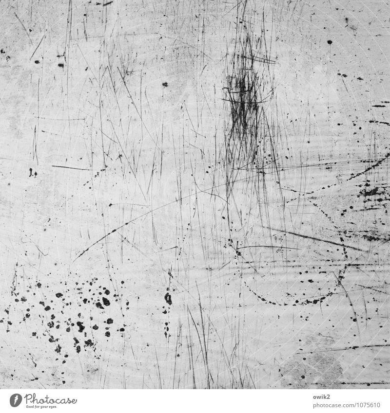Mezzotinto Kunstwerk Metall alt kaputt unklar Kratzer Spuren Zahn der Zeit Fensterbrett Linie Punkt Schaden Blech Farbe Textfreiraum Hintergrundbild