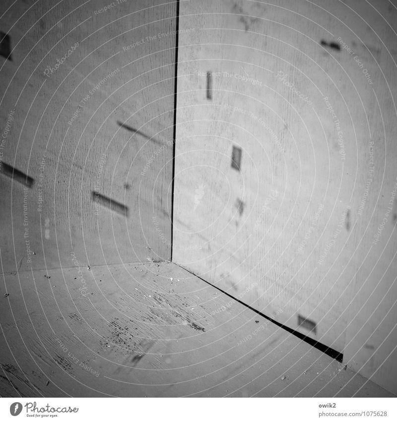 Toter Winkel Holz Hintergrundbild trist Glas leer Textfreiraum Ecke einfach geheimnisvoll Spuren eckig Rätsel unklar Holzwand Vignettierung Leerstand