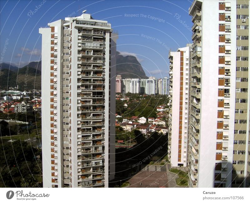 Hoch die Tassen! Hotel Ferien & Urlaub & Reisen Gebäude Rio de Janeiro Strand Sommer Tourismus Ferne hoch
