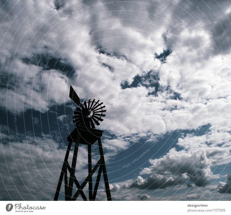 Western Ökostrom Windkraftanlage Elektrizität Erneuerbare Energie ökologisch Umwelt Umweltschutz umweltfreundlich Schonen historisch Wilder Westen Amerika