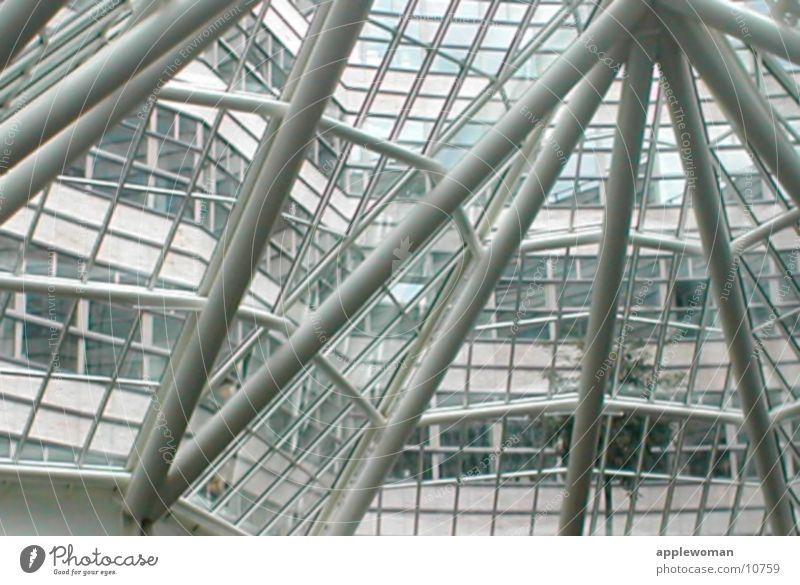 skelett-dach Dach Skelett Fenster Licht Architektur quatier 206 Glas