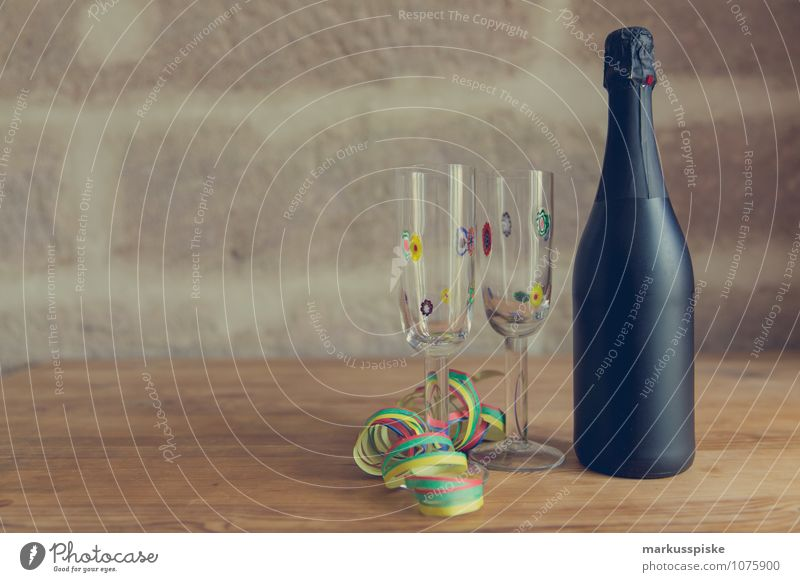 champagner party Freude Stil Lifestyle Glück Feste & Feiern Party Design elegant Glas Geburtstag Fröhlichkeit Lebensfreude Getränk Hochzeit Silvester u. Neujahr