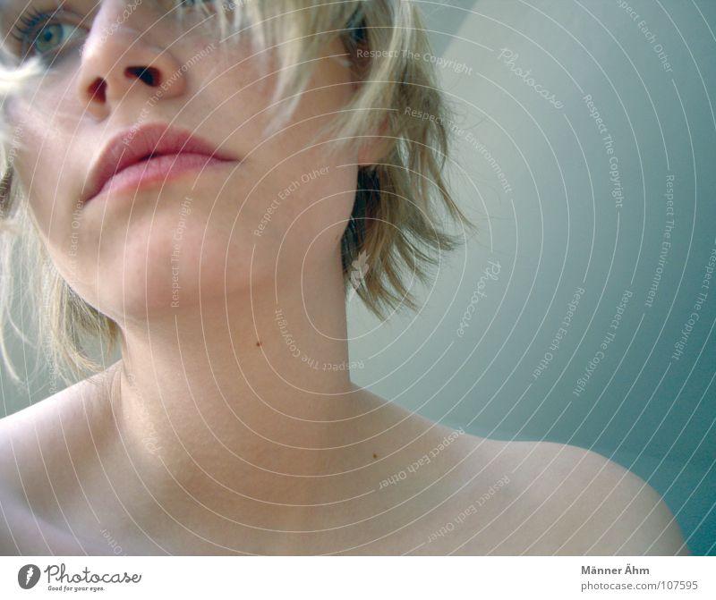 Wenn Glück zum Greifen wäre... Frau Gesicht Ferne Haare & Frisuren Hintergrundbild Suche Wegsehen Schulter Gedanke Hals Qualität