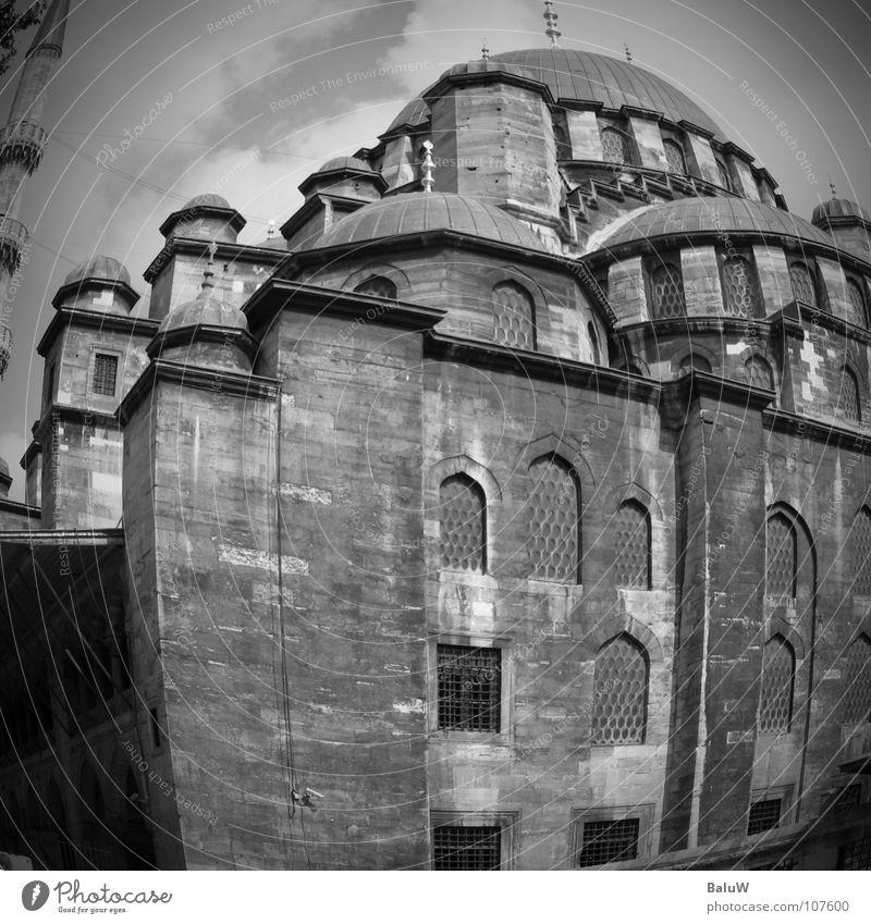 moschee Moschee Istanbul Türkei dunkel Islam Sozialer Dienst Fischauge Schwarzweißfoto ps
