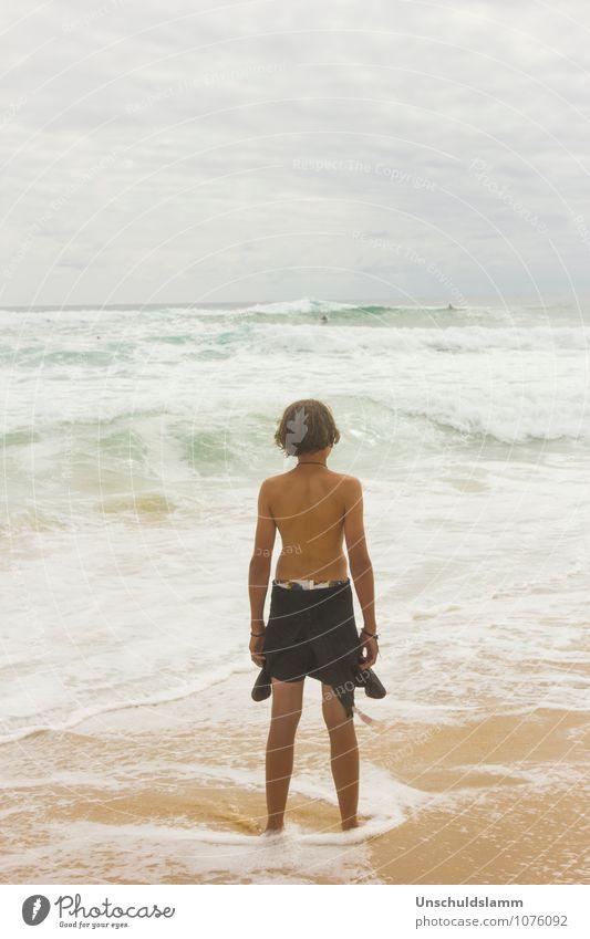 Ocean is calling Mensch Kind Ferien & Urlaub & Reisen schön Sommer Erholung Meer Wolken Strand Ferne Leben Junge Sport Freiheit Stimmung Lifestyle