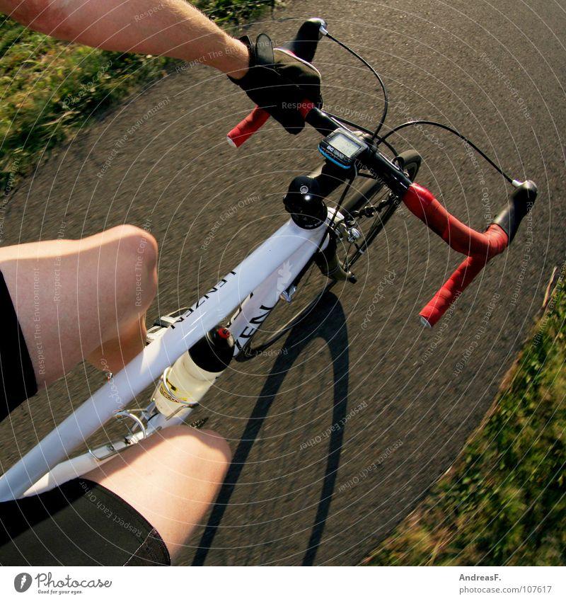 Tour de France Fahrrad Rennrad Radrennen Sport Gesundheit Geschwindigkeit Fahrradfahren Triathlon üben rasiert Oberschenkel Fahrradweg Fahrradtour Knie Sommer
