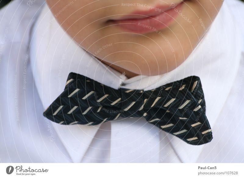 fein gemacht_1 Kind weiß schön Freude schwarz Junge elegant Ordnung Hemd gehorsam Fliege Spießer nobel