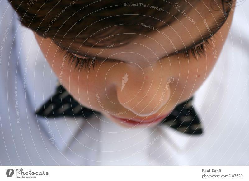fein gemacht_2 Kind weiß schön Freude schwarz Junge elegant Ordnung Hemd fein gehorsam Fliege Spießer nobel
