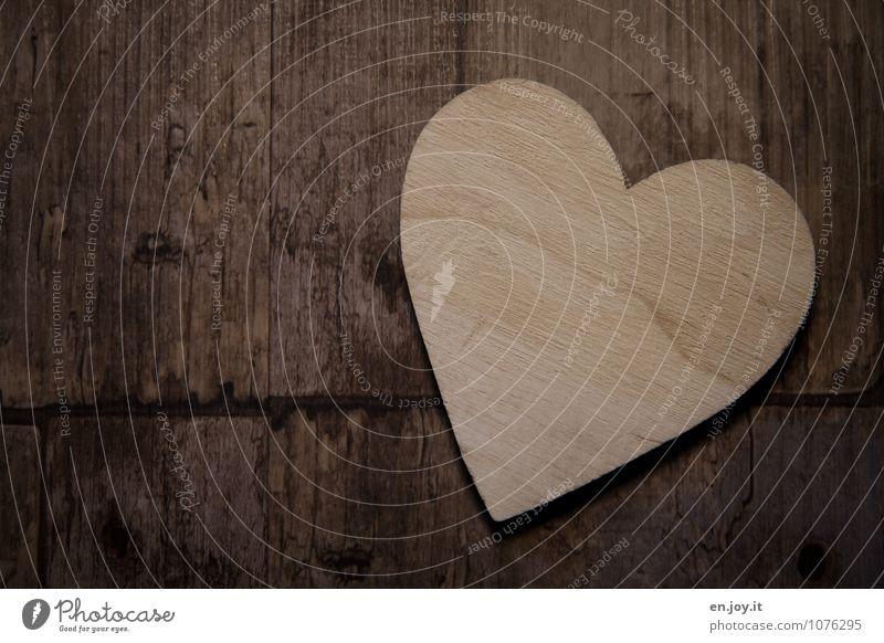 Herzblatt Gefühle Liebe Glück Holz Feste & Feiern braun Zusammensein Geburtstag Fröhlichkeit Kreativität Lebensfreude Warmherzigkeit Zeichen Romantik