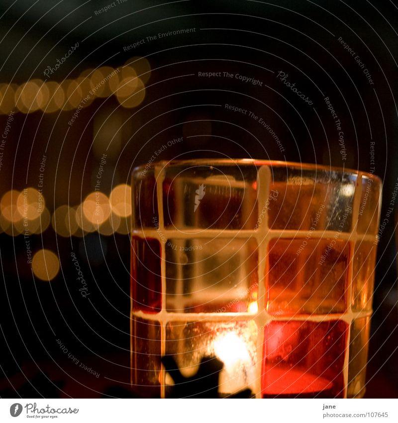 Träumen und Hoffen Weihnachten & Advent rot dunkel schwarz gelb Wärme Gefühle orange Glas Hoffnung Kerze Lichtspiel Lichtpunkt Teelicht