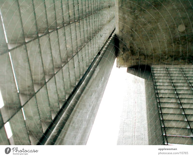 beton auf stahl oben Architektur Quadrat Flucht Stahlgitter