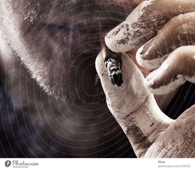 Bis zum bitteren Ende II Gedeckte Farben Außenaufnahme Nahaufnahme Gesicht Rauchen Erholung Arbeit & Erwerbstätigkeit Handwerker Anstreicher Mensch maskulin