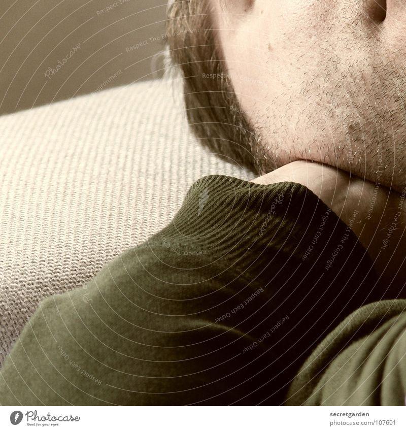 topfit III Mensch Mann grün ruhig Gesicht Erholung Wand Graffiti grau Raum Arme liegen schlafen Bekleidung Sofa Bart