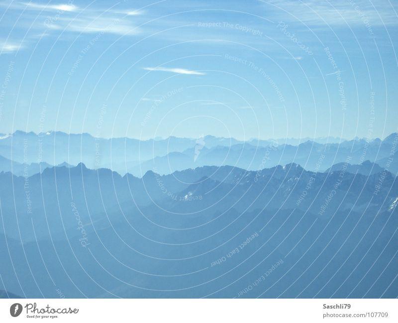 Die Alpen Gipfel Zugspitze Nebel Ferne Berge u. Gebirge Voralpen Schnee