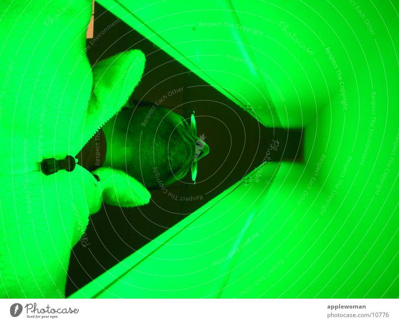 GREEN Mann grün Neonlicht Museum Fluchtpunkt Hamburger Bahnhof