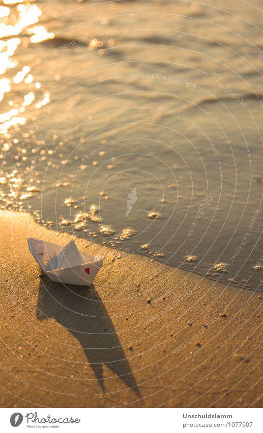 Romantisches für Freitag Lifestyle Stil Ferien & Urlaub & Reisen Tourismus Feste & Feiern Valentinstag Hochzeit Sommer Küste Strand Meer Bootsfahrt Papier