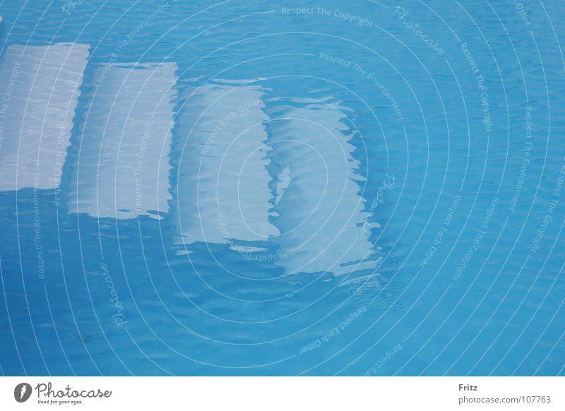 Urlaubserinnerung Wasser blau Sommer Ferien & Urlaub & Reisen Treppe Schwimmbad