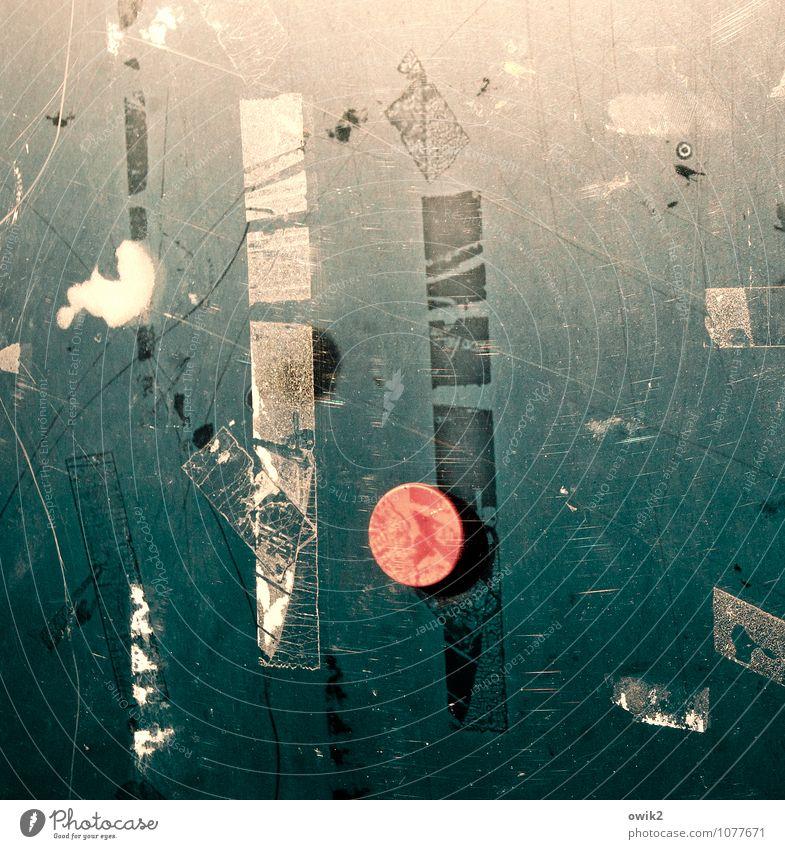 Jazz Seen alt Glas Textfreiraum Kunststoff trashig bizarr Rest unklar Klebeband Kratzer Schwarzes Brett Tafel Symbole & Metaphern Zahn der Zeit Magnetschild