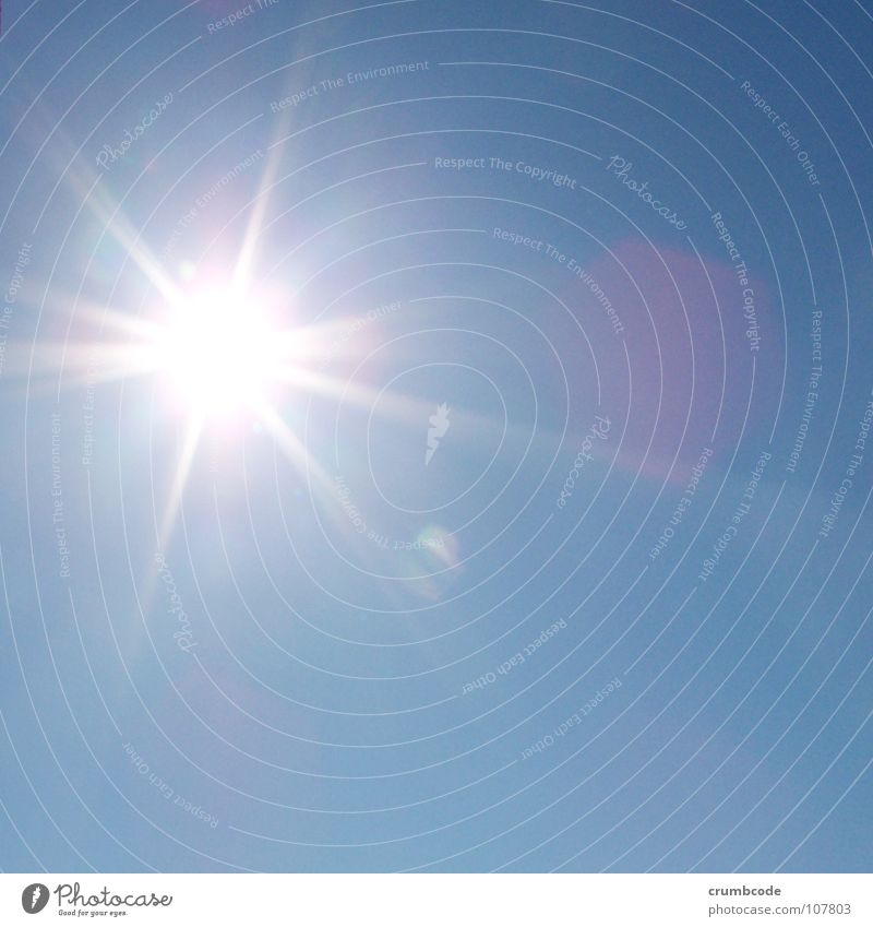 Sonnenschein Himmel Sonne blau Sommer Beleuchtung Sonnenstrahlen Schönes Wetter grell
