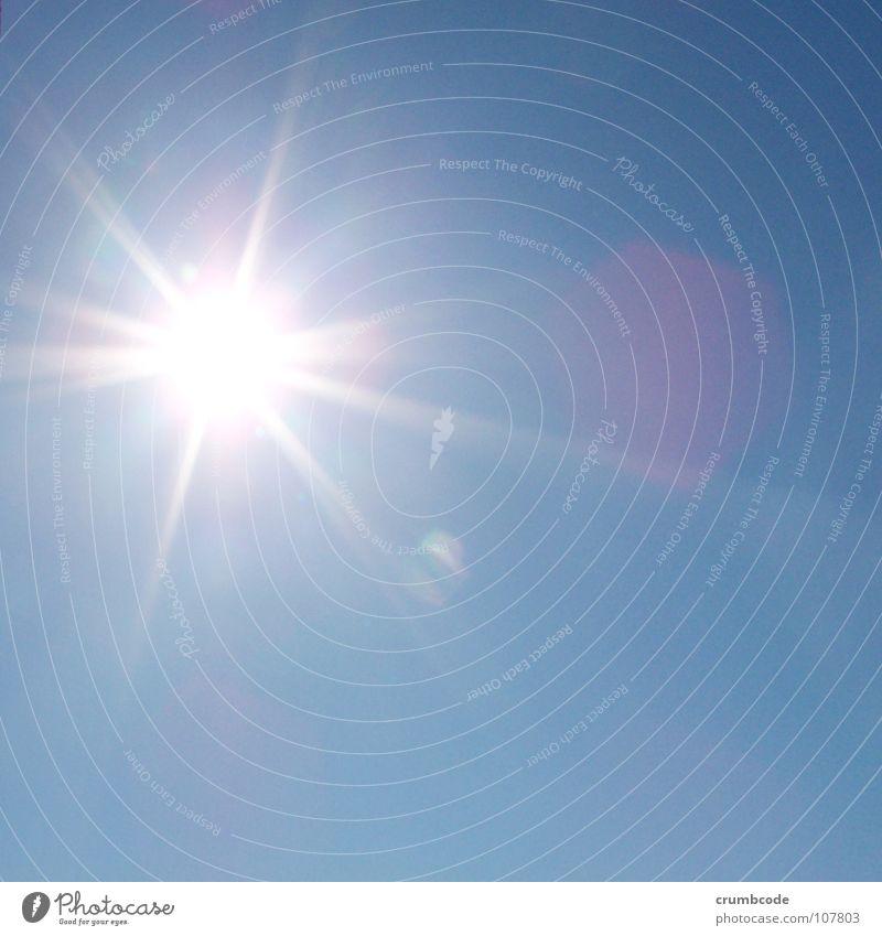 Sonnenschein Sommer Himmel Schönes Wetter blau grell Beleuchtung Farbfoto Außenaufnahme Licht Lichterscheinung Sonnenstrahlen