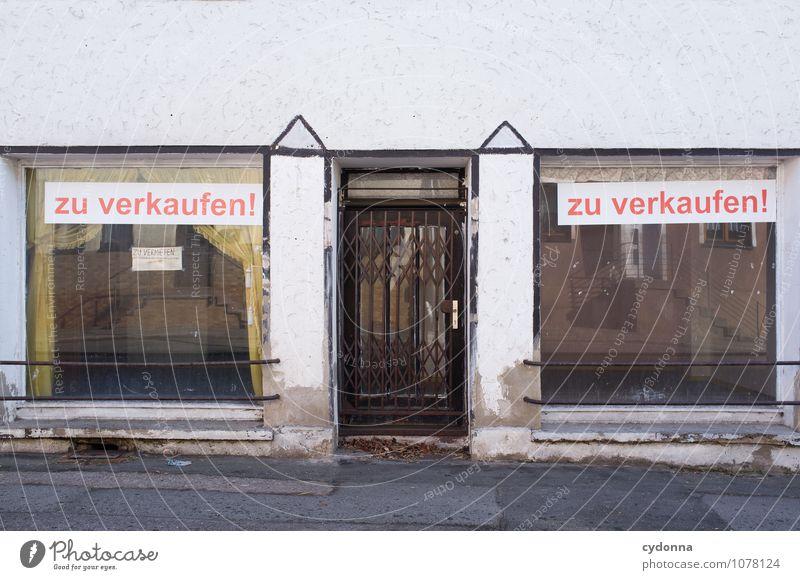TOP ANGEBOT: Und den Vorhang gibt's gratis dazu Stadt Einsamkeit Fenster Architektur Stil Deutschland Lifestyle Fassade trist Schilder & Markierungen