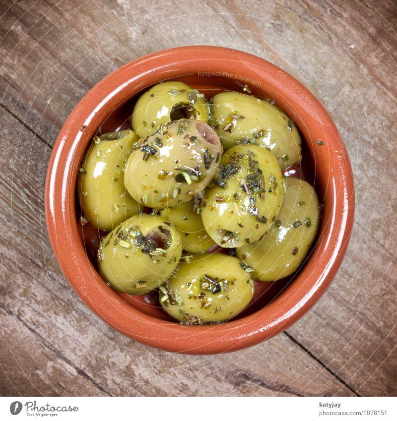 grüne Oliven grün Gesunde Ernährung Gesundheit Frucht Ernährung Italien Kochen & Garen & Backen Küche nah mediterran Mittelmeer Fett Griechenland Öl Snack Oliven