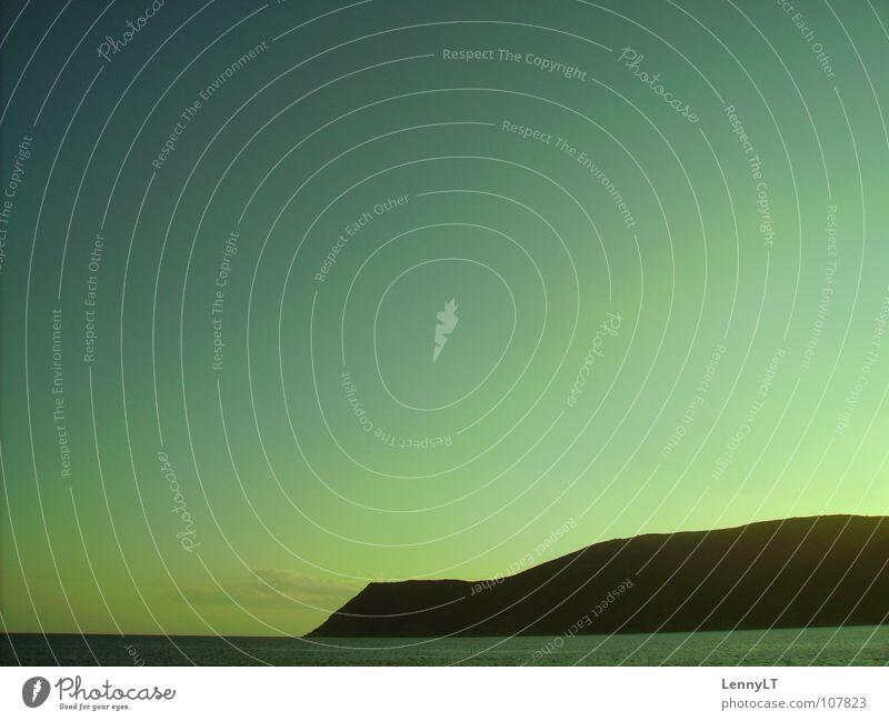 DEJECTION Küste Sonnenuntergang Elba Italien Meer gelb grün schwarz Panorama (Aussicht) Strand Sommer Himmel blau boah ich hab n unbearbeitetes Bild am start...