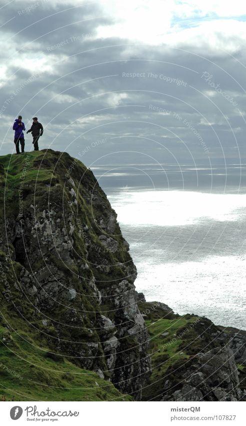 last frontier Mensch Himmel Ferien & Urlaub & Reisen Meer Freude Einsamkeit Wolken ruhig Ferne Landschaft dunkel Leben Spielen Berge u. Gebirge oben Gefühle