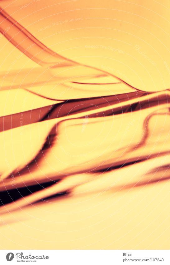 Liquid schön Meer orange Hintergrundbild Wellen Rauch Flüssigkeit Duft leicht Kurve graphisch gemalt luftig Parfum Parfumflakon