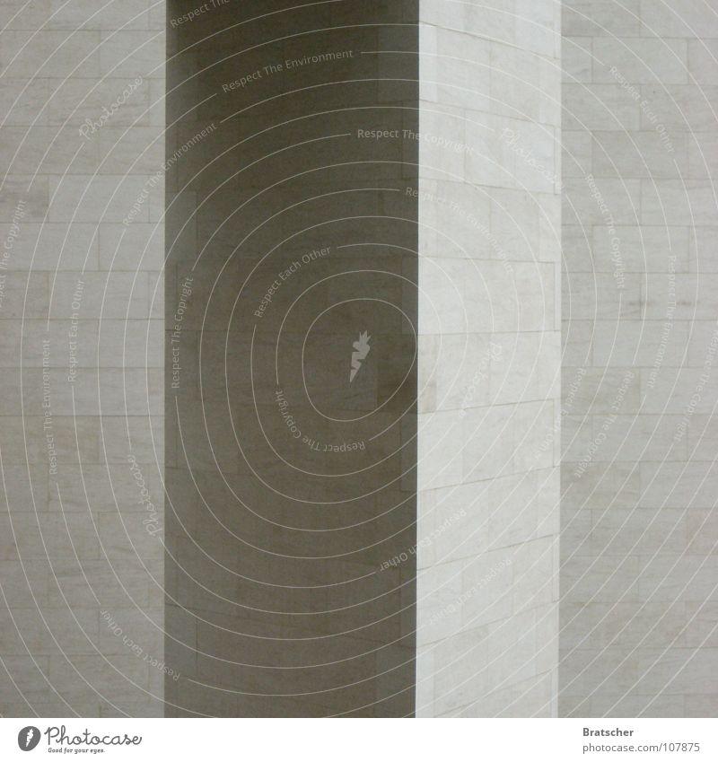 Proportionen III schön grau Stein Mauer Linie Architektur ästhetisch Ecke rund Konzentration bauen edel Säule Glätte Architekt